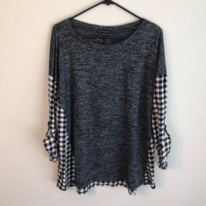 Stitch Fix Staccato Mixed Material Knot Top